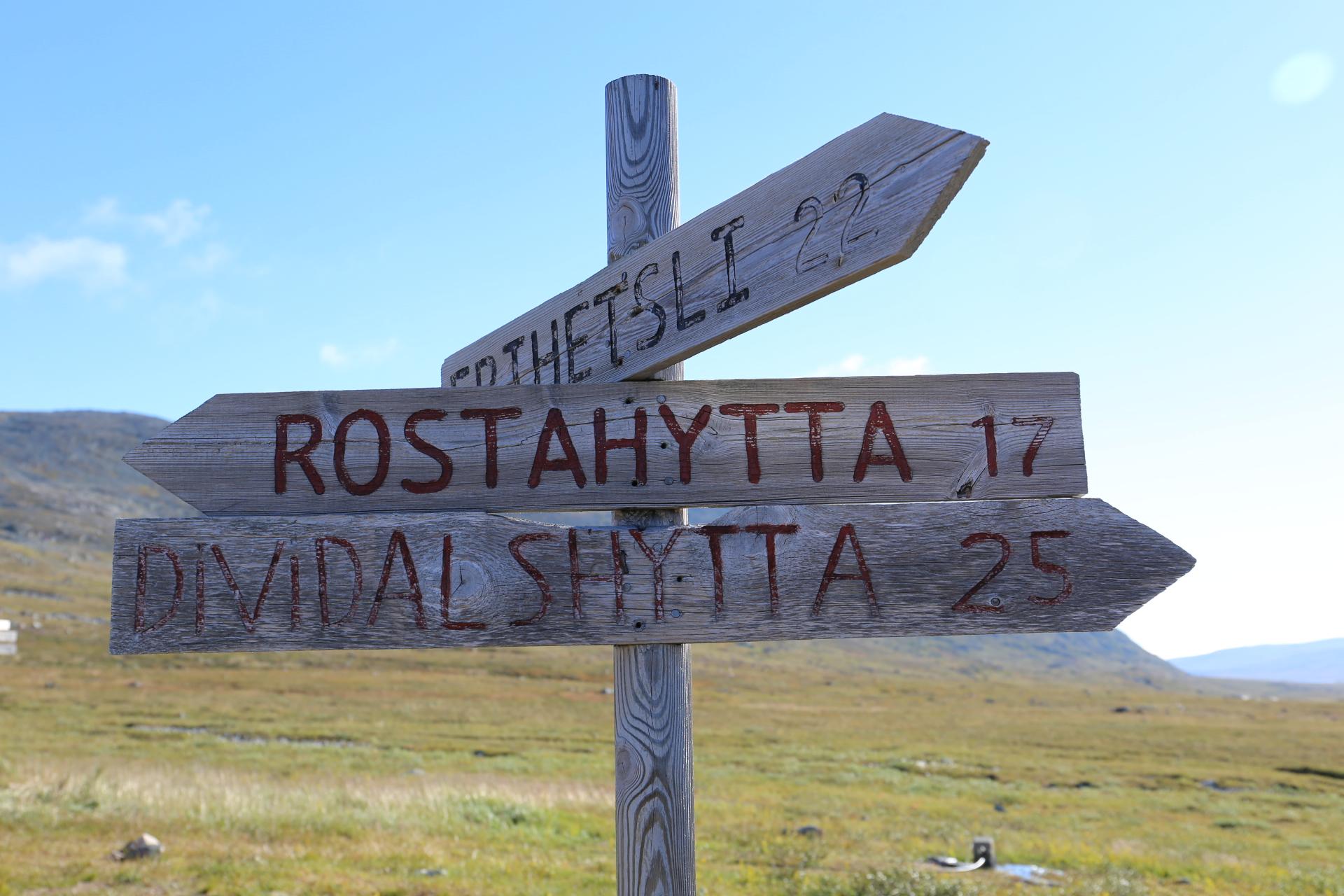 25 km till Dividalshytta - det blir en lång dag