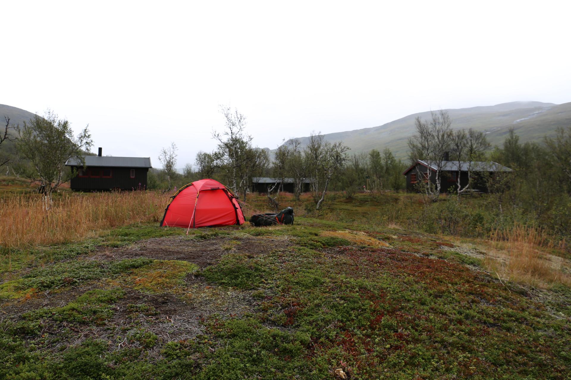 Tältplatsen vid Gaskashytta