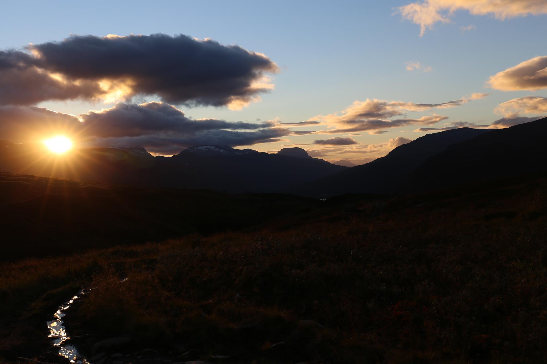Solnedgång vid Salvasskardfjellet