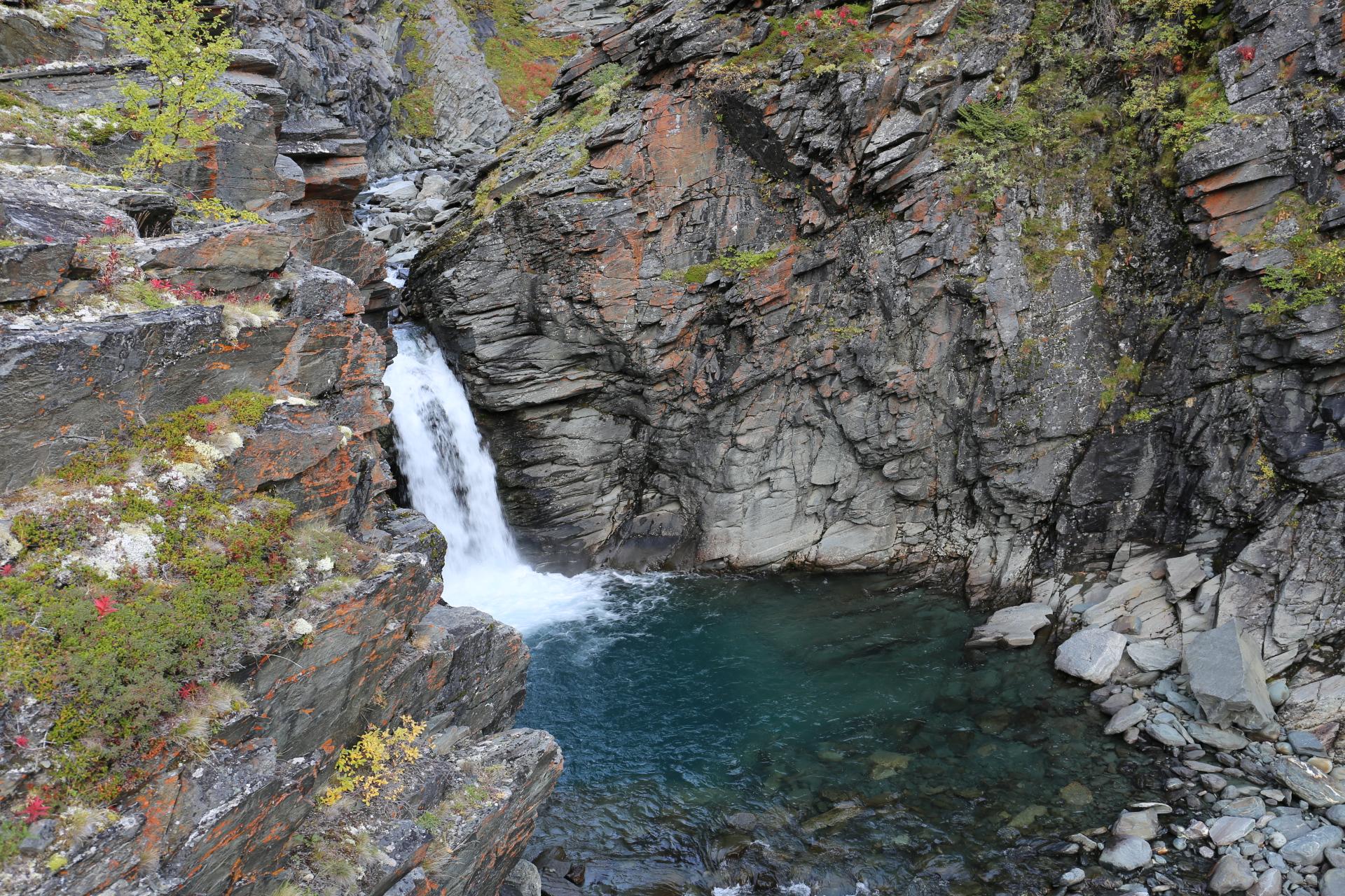 Vattenfallet vid Moarhmmajåhka